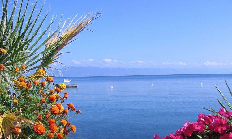 Morze Egejskie z Riwiery Olimpijskiej